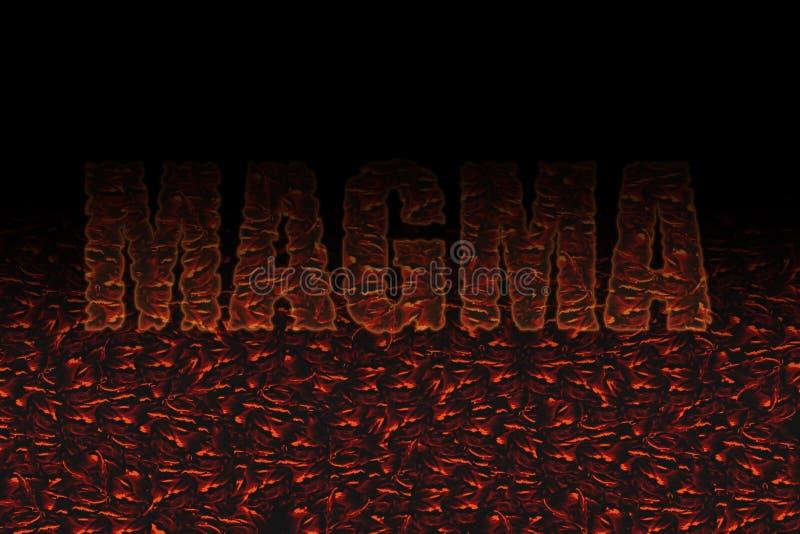 Die rote Farbe dekorativen Magma textin Schwarzen stockbild