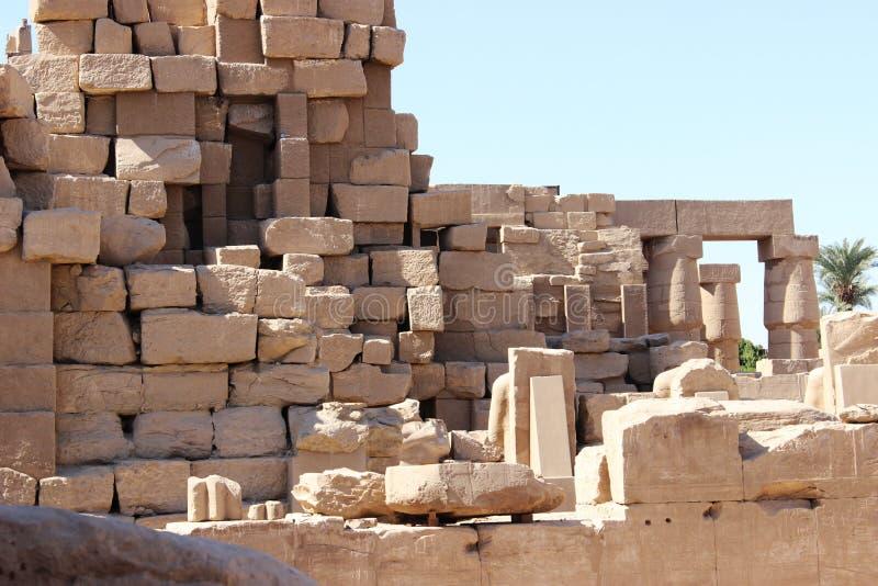 Die Ruinen des Tempels von Karnak stockfoto