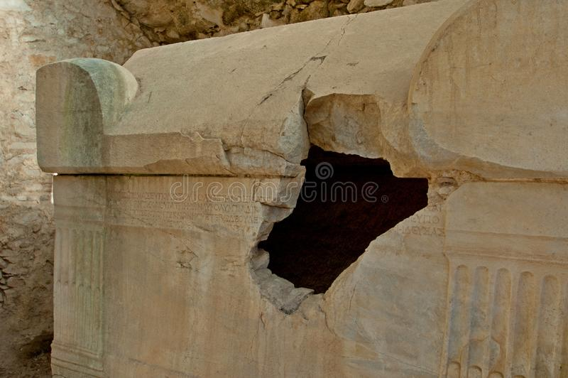 Die Ruinen von den alten Zivilisationen noch extant stockbild