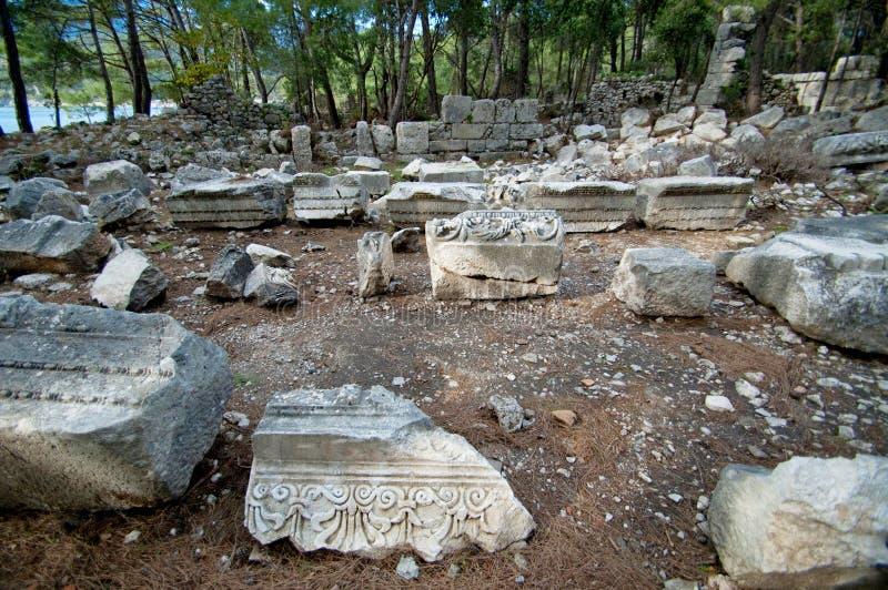 Die Ruinen von den alten Zivilisationen noch extant lizenzfreies stockfoto