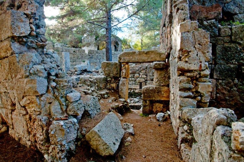 Die Ruinen von den alten Zivilisationen noch extant lizenzfreie stockfotografie