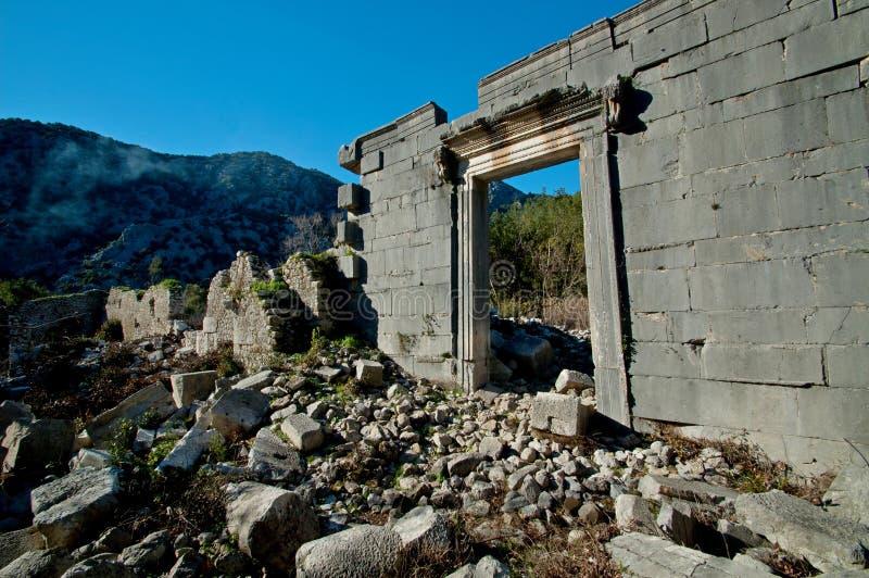 Die Ruinen von den alten Zivilisationen noch extant stockfotografie