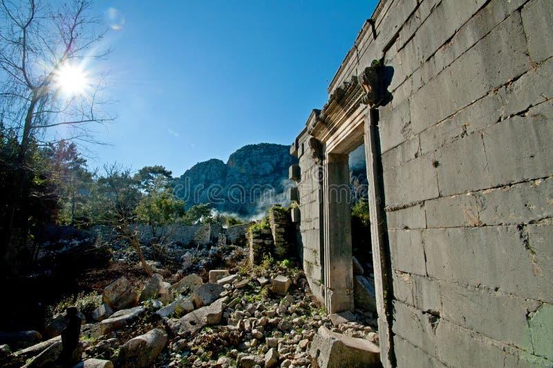 Die Ruinen von den alten Zivilisationen noch extant lizenzfreie stockfotos