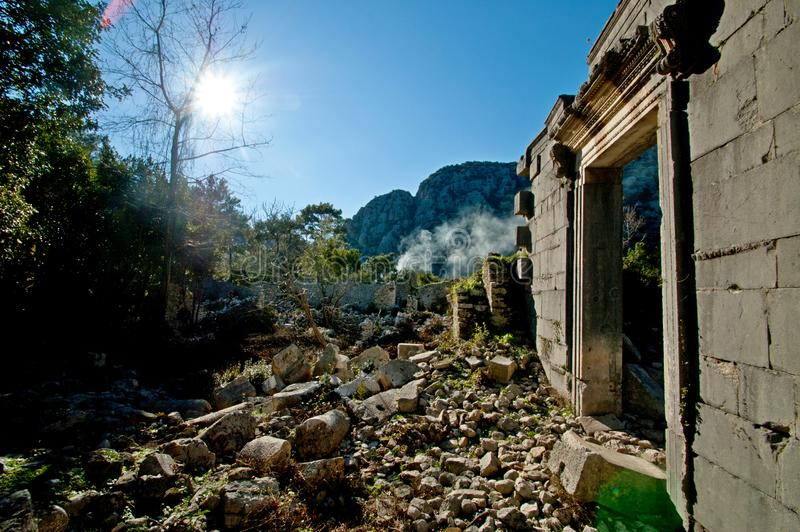 Die Ruinen von den alten Zivilisationen noch extant stockfoto