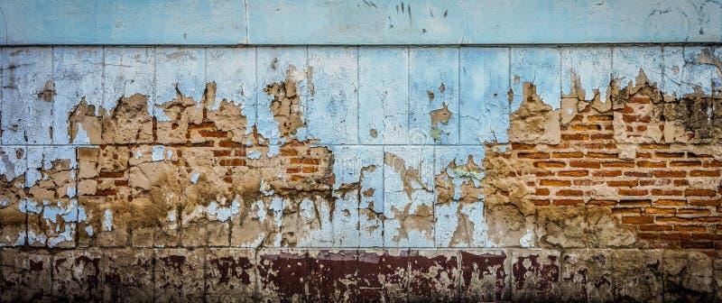 Die Ruinenwand stockbild