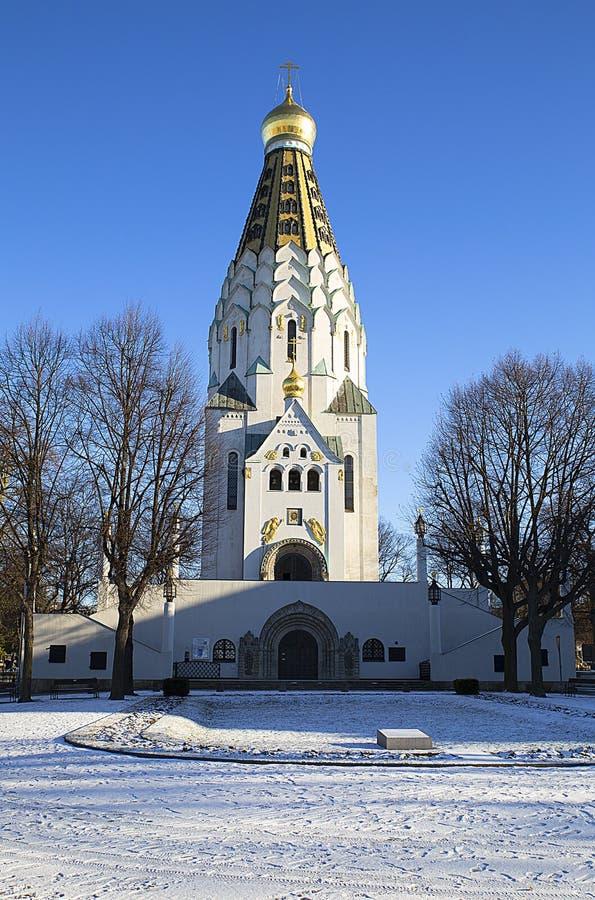 Die Russisch-Orthodoxe Kirche in Leipzig, Deutschland stockfotos