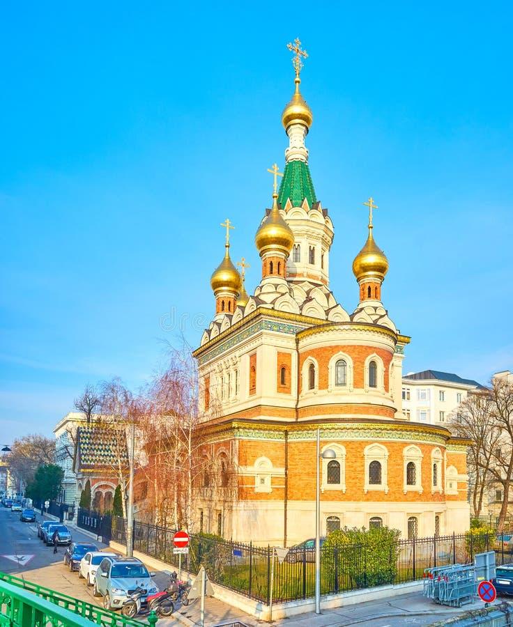 Die Russisch-Orthodoxe Kirche in Wien, Österreich lizenzfreie stockfotos