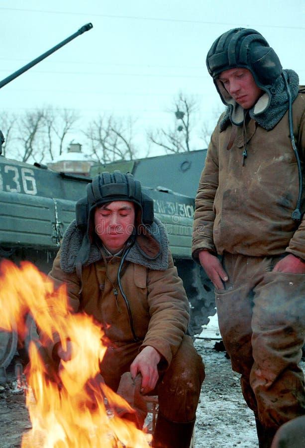 DIE RUSSISCHE INVASION VON TSCHETSCHENIEN lizenzfreies stockbild