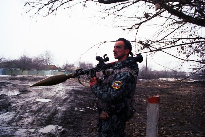 DIE RUSSISCHE INVASION VON TSCHETSCHENIEN lizenzfreies stockfoto