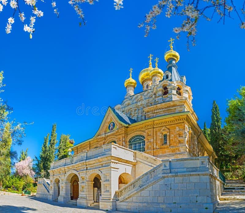 Die russische Kirche in Jerusalem stockfotos