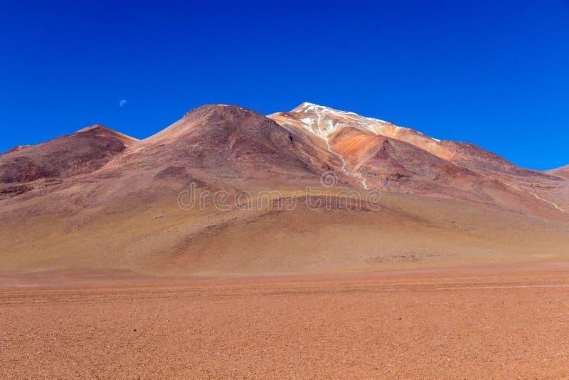 Die Salvador Dali-Wüste alias Dali Valley, in Eduardo Avaroa Park in Bolivien, Anden in Südamerika stockbild