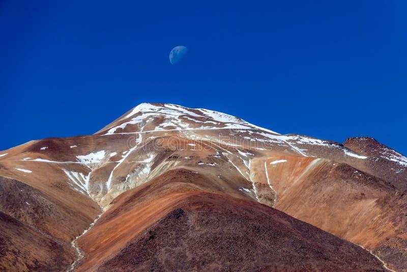 Die Salvador Dali-Wüste alias Dali Valley, in Eduardo Avaroa Park in Bolivien, Anden in Südamerika lizenzfreie stockfotografie