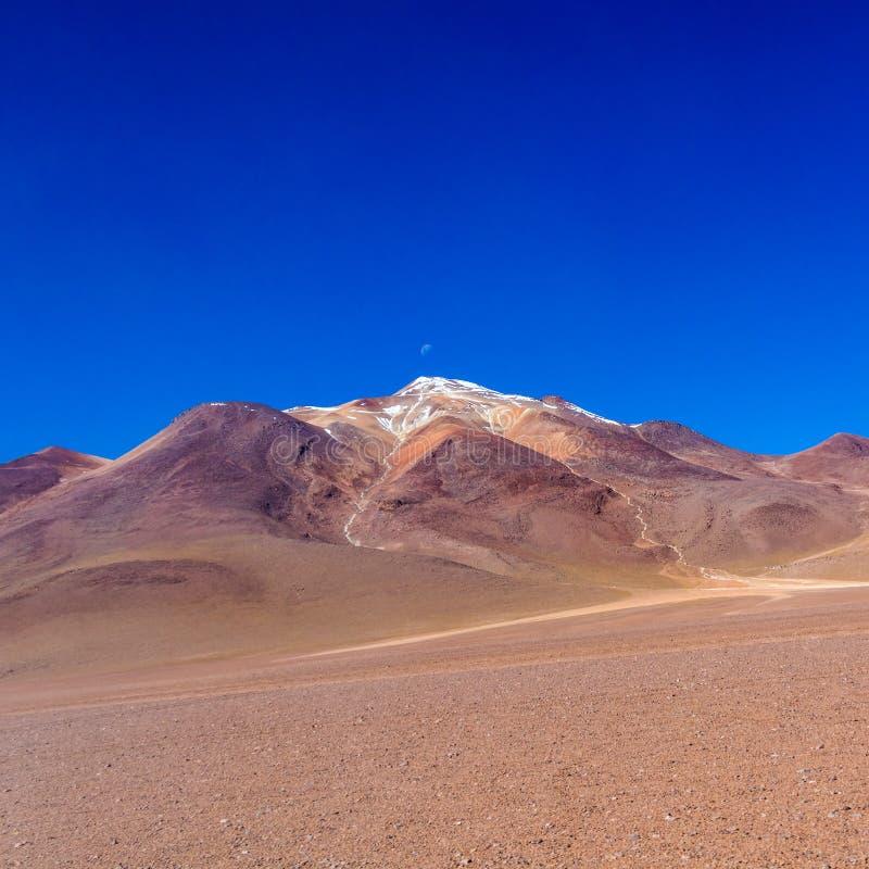 Die Salvador Dali-Wüste alias Dali Valley, in Eduardo Avaroa Park in Bolivien, Anden in Südamerika lizenzfreie stockfotos