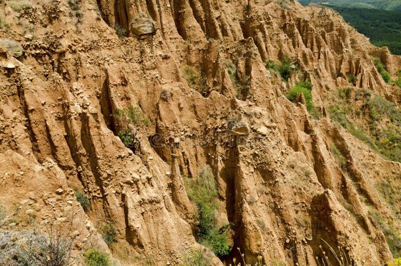 Die Sandsteinpyramiden von Stob lizenzfreie stockfotografie