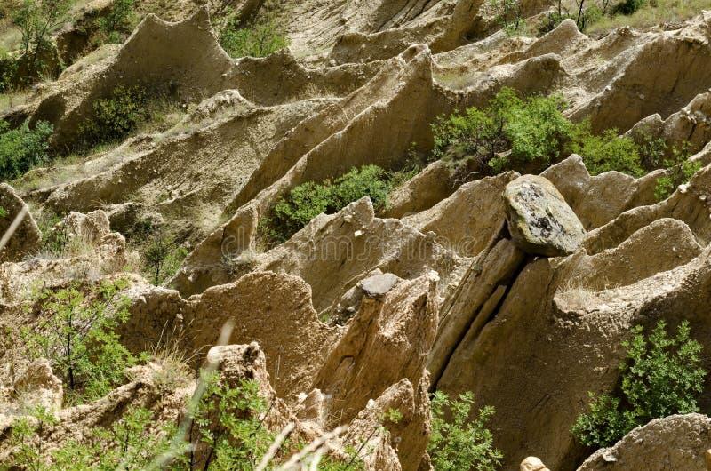 Die Sandsteinpyramiden von Stob lizenzfreies stockfoto