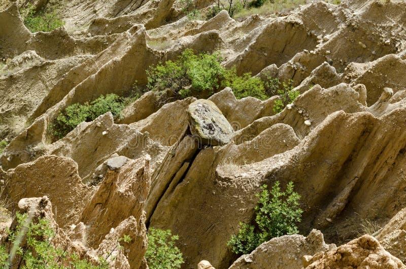 Die Sandsteinpyramiden von Stob lizenzfreies stockbild