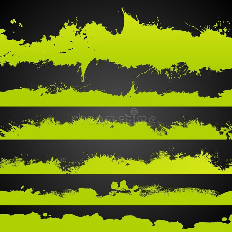 Die saure gezeichnete Farbe des Schmutzes spritzt Satz stock abbildung