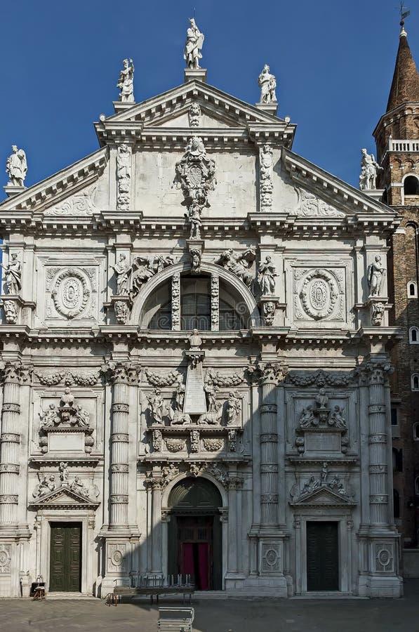 Die schöne barocke Artkirche von San Moise in Venezia, Venedig, Italien lizenzfreies stockbild