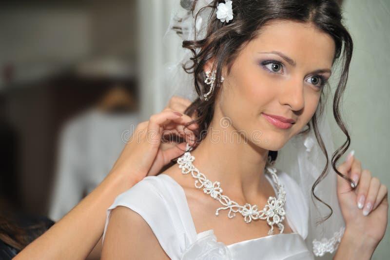 Die schöne Braut lizenzfreie stockfotos