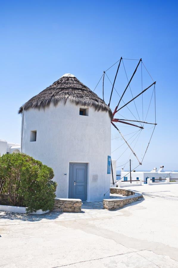 Die schöne griechische Insel, Mykonos stockfotos