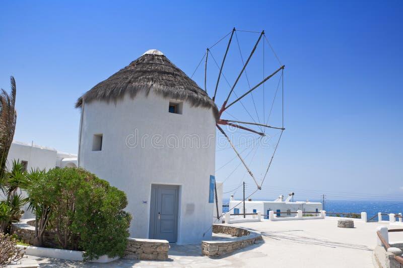 Die schöne griechische Insel, Mykonos stockbild