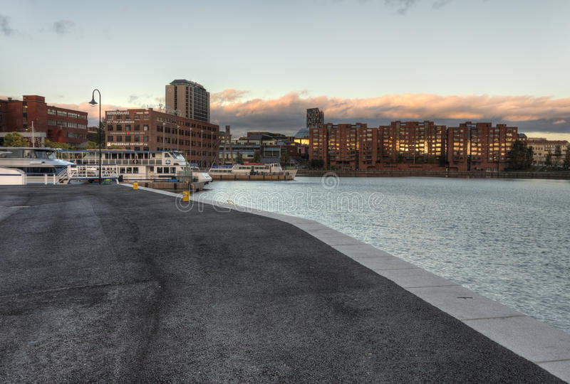 Die schöne Stadtlandschaft in Tampere stockfotos