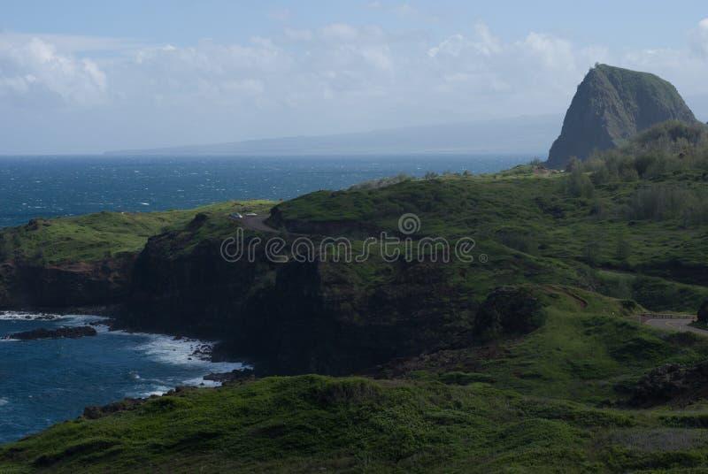 Die schönen Ansichten von Maui-Nordküste, vertreten Hana von der berühmten kurvenreichen Straße Maui, Hawaii stockfoto