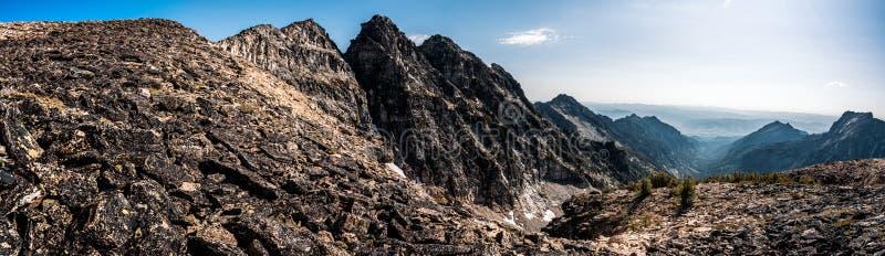 Die schönen Bitterroot-Berge von Montana stockfotografie
