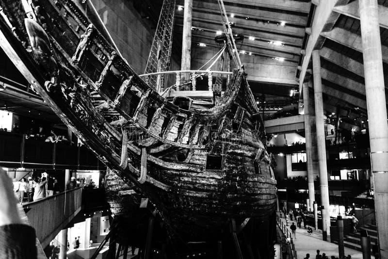 Die schönen versenden Vasa in Stockholm lizenzfreie stockfotos