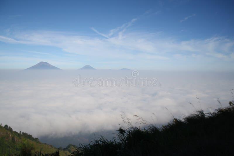 Die Schönheit des Bergs Andong lizenzfreie stockfotografie