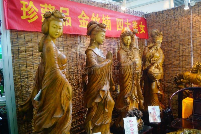 Die Schönheit von alten chinesischen Carvings gestalten, mit geschnitztem nanmu landschaftlich lizenzfreie stockfotografie