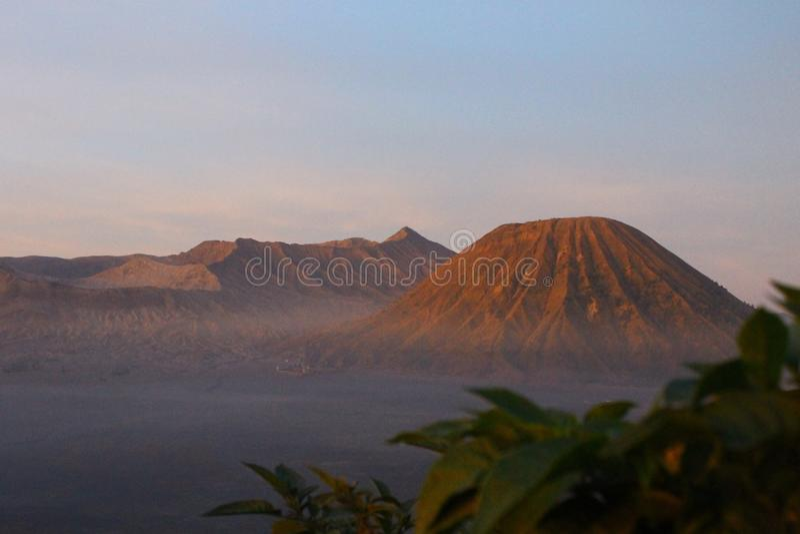 Die Schönheit von bromo Berg, Indonesien stockfotos