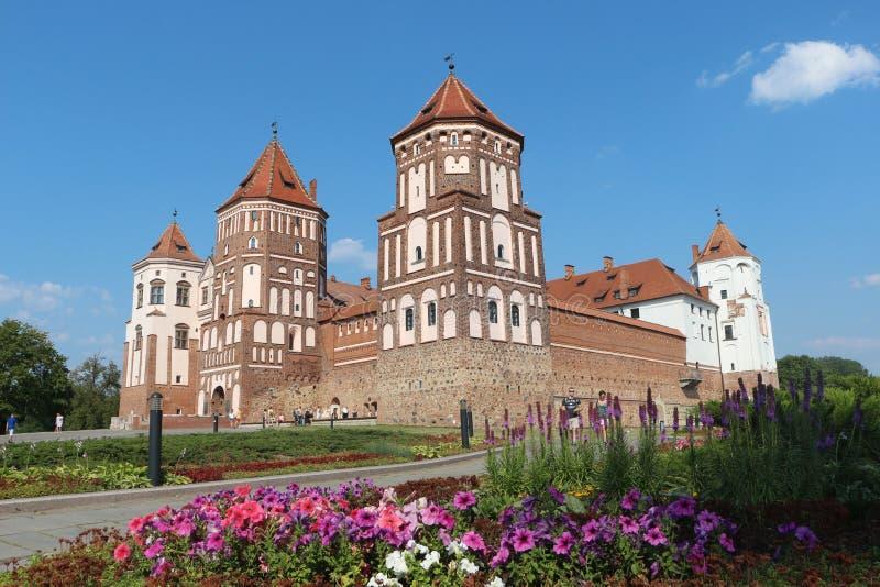 Die Schönheit von MIR-Schloss in Weißrussland lizenzfreie stockbilder