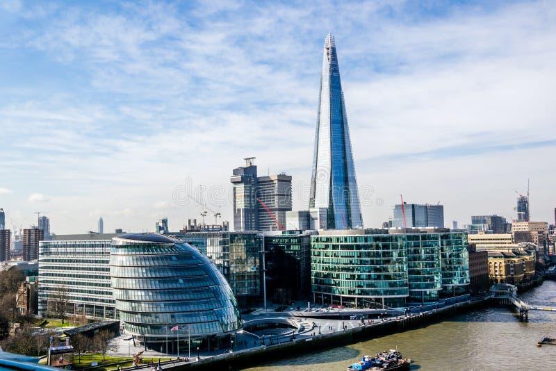 Die Scherbe, das höchste Gebäude in London lizenzfreies stockbild