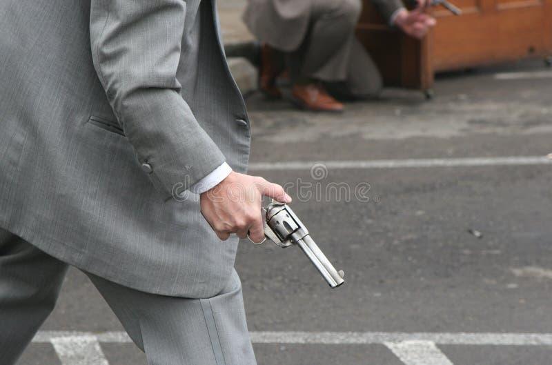 Die Schießerei stockbilder
