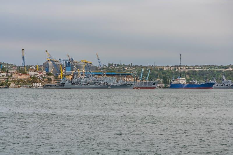 Die Schiffe der ukrainischen Marine stockfotografie
