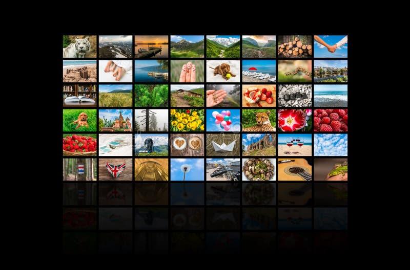 Die Schirmformung große Multimedia übertrug Videowand lizenzfreies stockbild