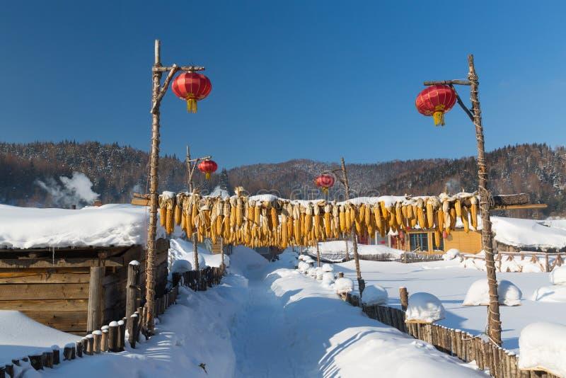 Die Schneestadt lizenzfreie stockfotografie