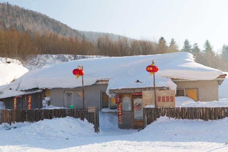 Die Schneestadt lizenzfreie stockbilder