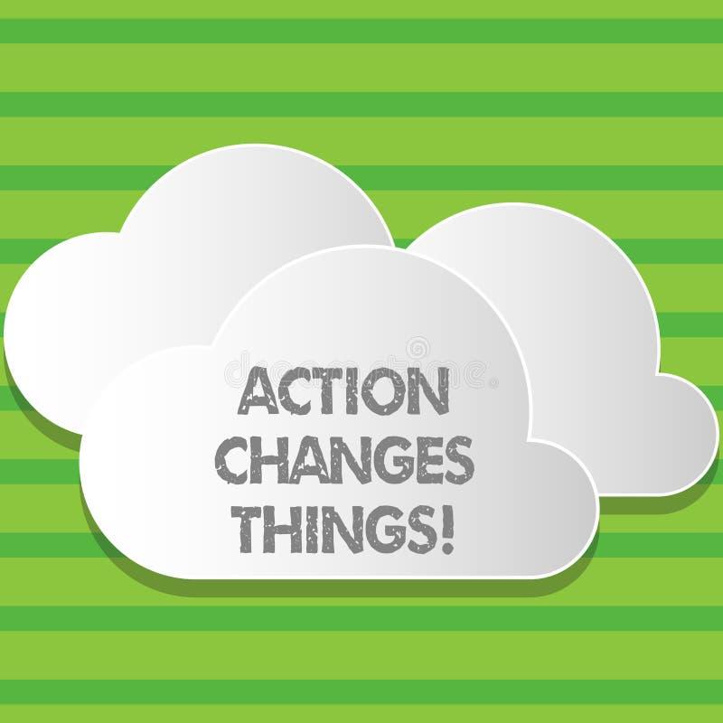 Die Schreibensanmerkung, die Aktion zeigt, ändert Sachen Das zur Schau stellende Geschäftsfoto, sich zu verbessern stehen nicht n lizenzfreie abbildung
