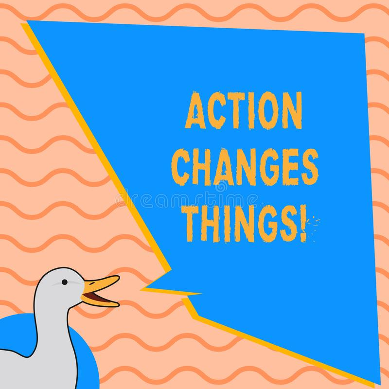 Die Schreibensanmerkung, die Aktion zeigt, ändert Sachen Das zur Schau stellende Geschäftsfoto, sich zu verbessern stehen nicht n vektor abbildung