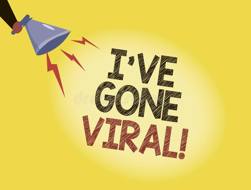 Die Schreibensanmerkung, die Ive zeigt, sind Viren gegangen Präsentationsmedizinischer begriff des Geschäftsfotos verwendet, um k vektor abbildung