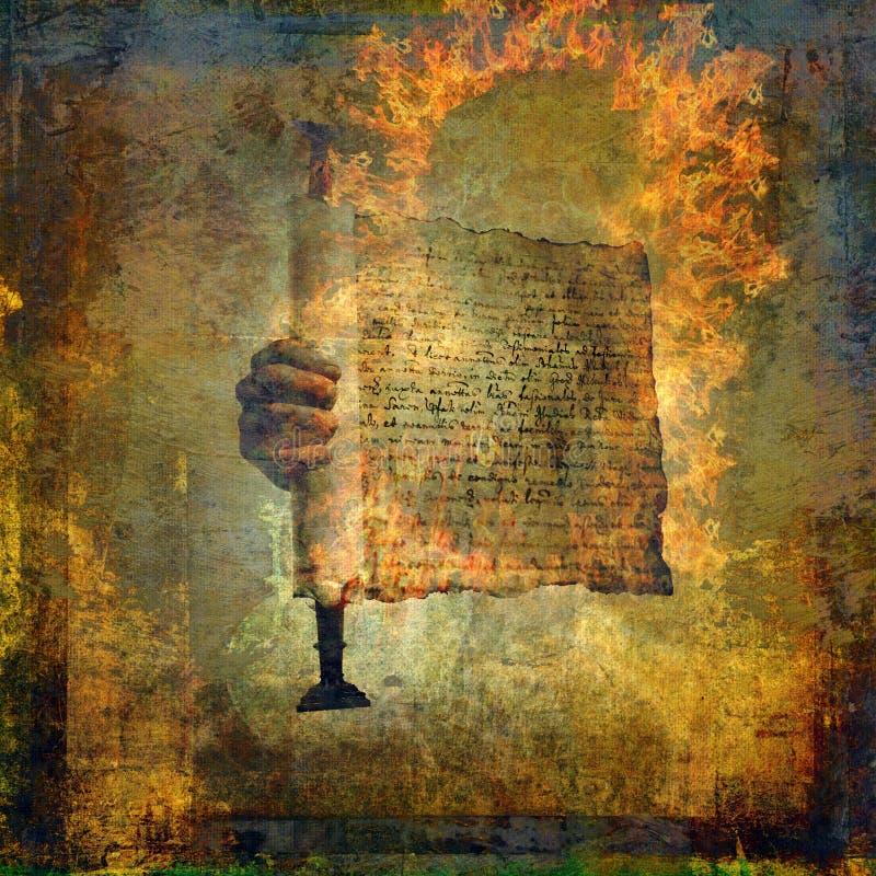 Die schriftliche Seele lizenzfreie abbildung