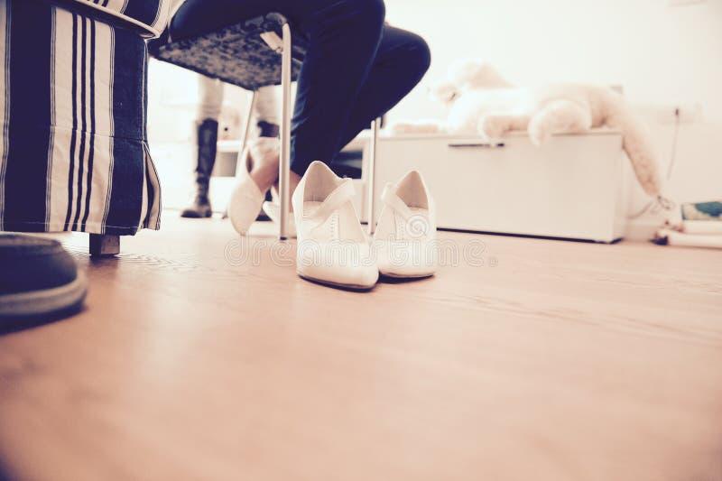 Die Schuhe lizenzfreie stockfotos