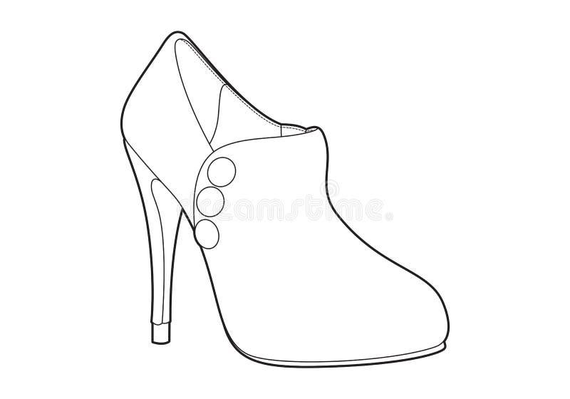Die Schuhe der Frauen stock abbildung