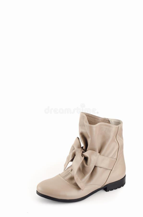 Die Schuhe der Frauen fleischfarben stockfoto