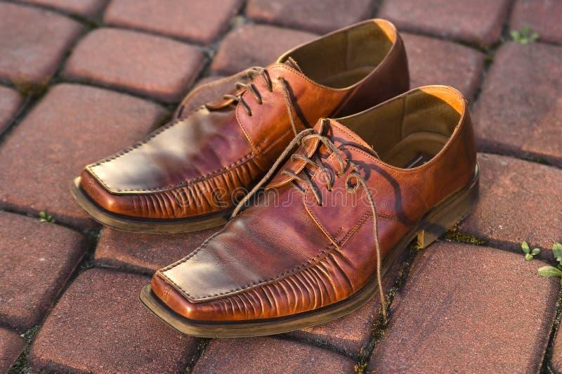 Die Schuhe der Männer lizenzfreies stockbild
