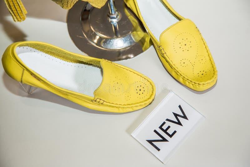 Die Schuhe der stilvollen farbigen Veloursledermokassin-Frauen stockfotografie