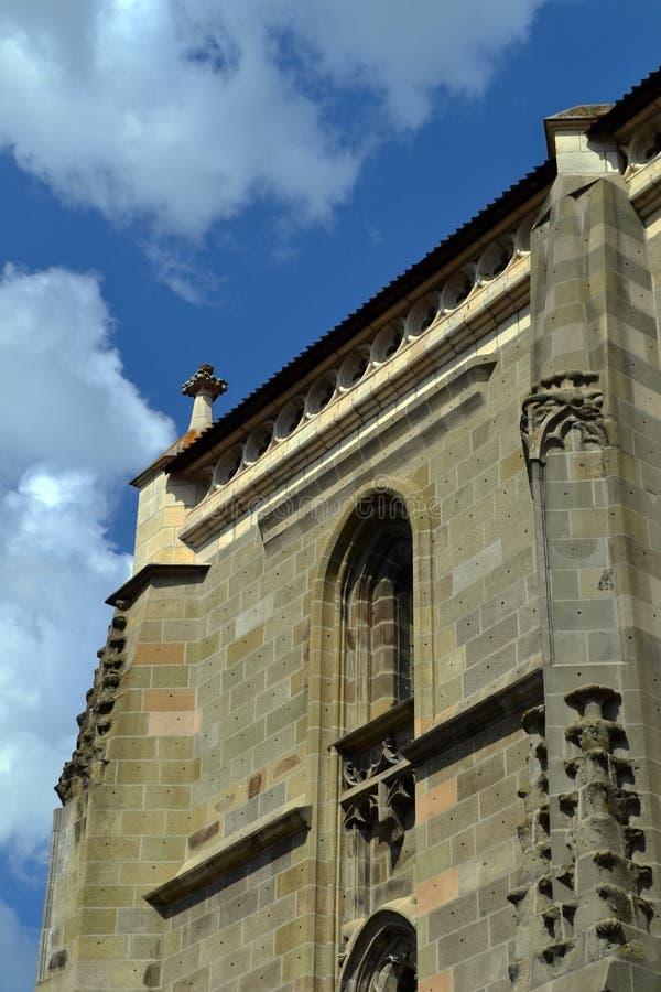 Die schwarze Kirche in der Stadt von Brasov, Rumänien, Europa stockbild