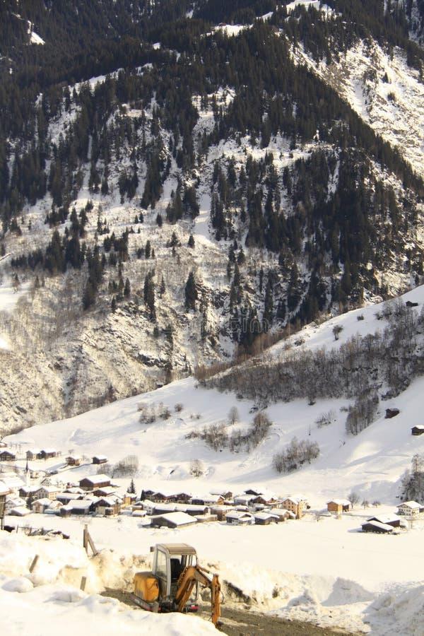 Die Schweiz-Dorf lizenzfreie stockbilder